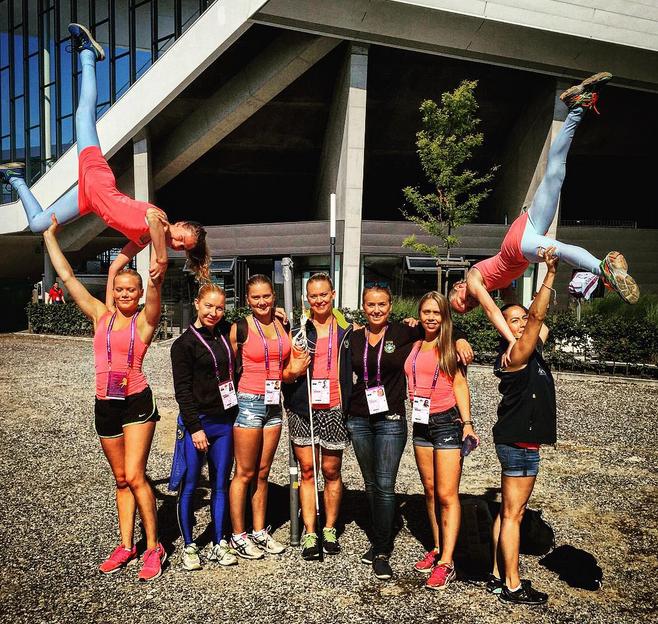 Team Svea femma inför finalen
