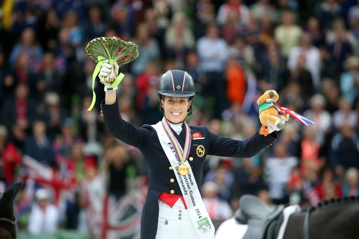 Charlotte Dujardin och Valegro tog två VM-guld i Normandie i somras. Nu har hon tilldelats utmärkelsen Sportswoman of the year.