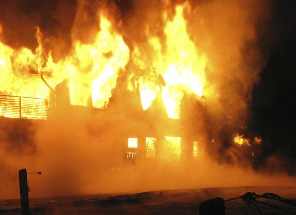 Kraftig brand på naturbruksgymnasium – flera djur innebrända