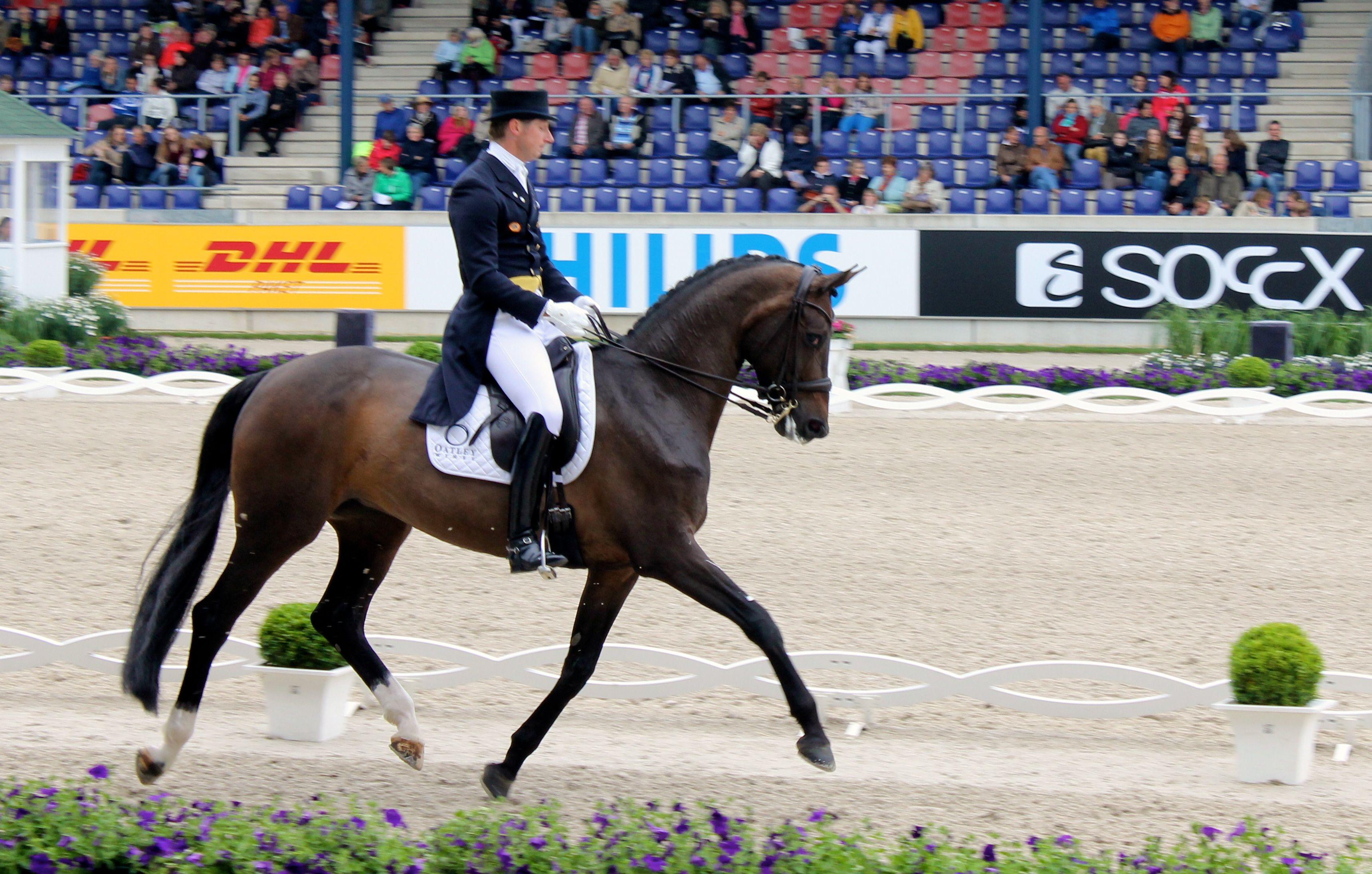 Patrik Kittel och Deja var 0,05 procent från seger i onsdagens Prix St Georges i Aachen.