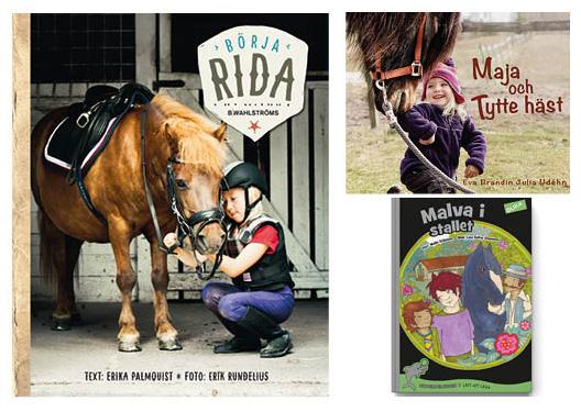 Trippel i hästböcker för barn