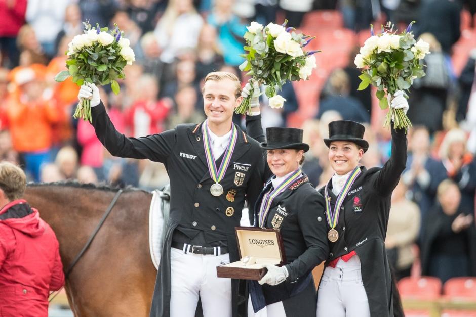 Medaljörer Werth, Rothenberger och Dufour
