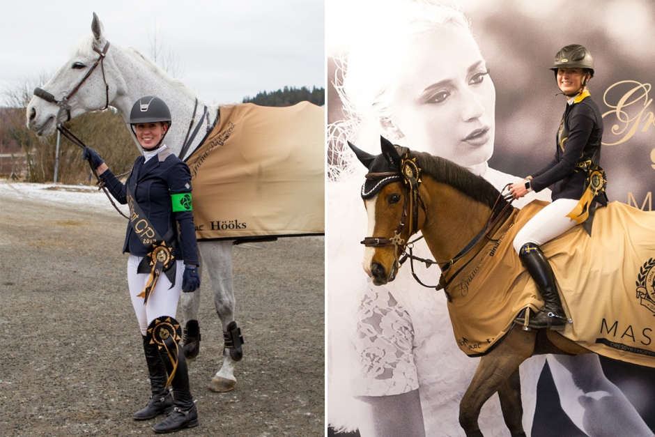Alexandra och Mikaela 1,45-vinnare