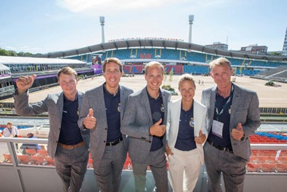Svenska laget på bronsplats