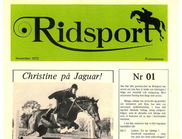 Läs första numret av Ridsport