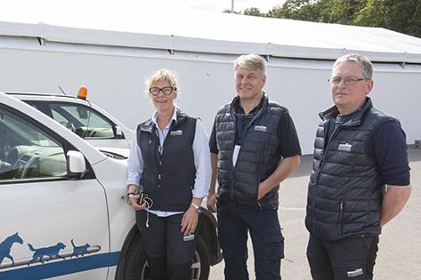 Tre veterinärteam tar hand om 600 EM-hästar